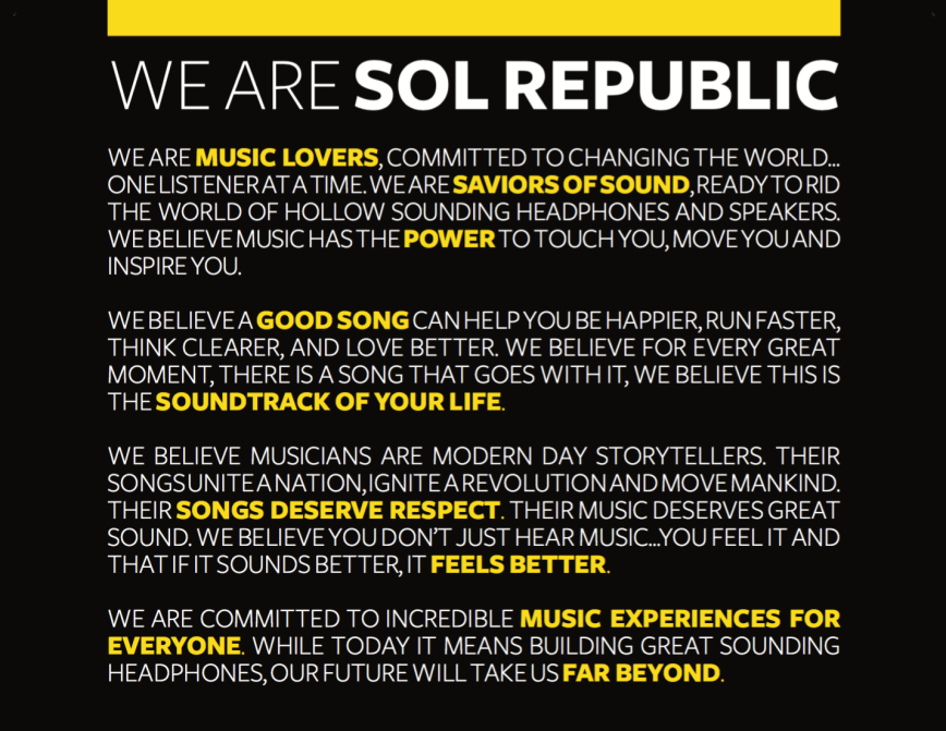 WE ARE SOL REPUBLIC