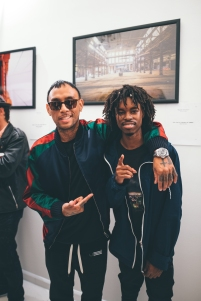 Mega of Black Scale and Photographer Omeez at 'Not For Sale' Art Showcase - July 2017 - Black Scale, SF